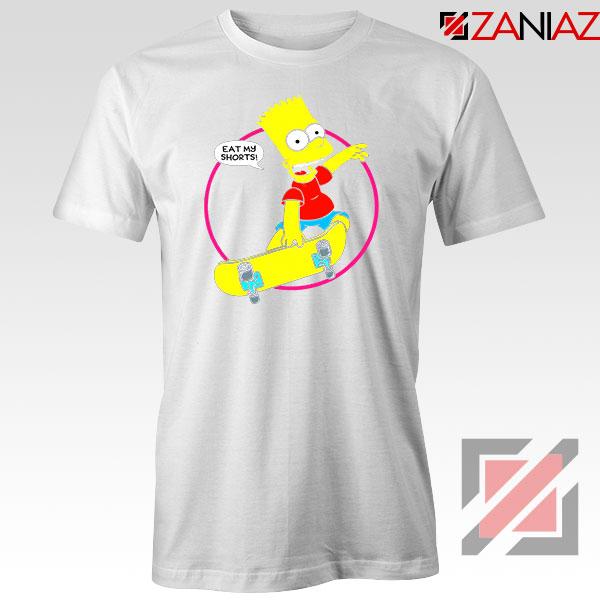 Bart Simpson Sitcom Eat My Shorts White Tshirt