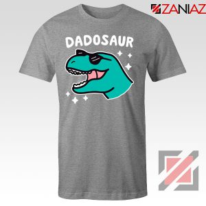 Best Dad Dinosaur Gift Grey Tee