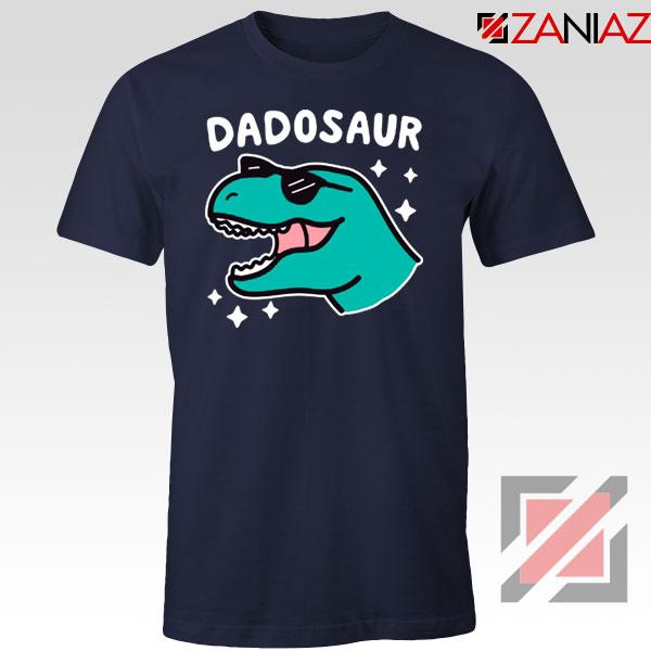 Best Dad Dinosaur Gift Navy Blue Tee