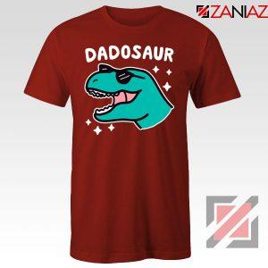 Best Dad Dinosaur Gift Red Tee