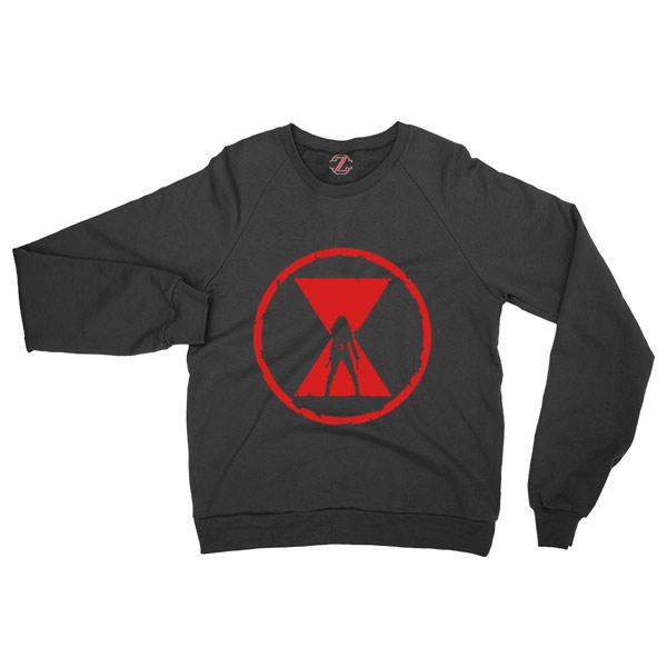 Black Widow Emblem Best Graphic Black Sweatshirt