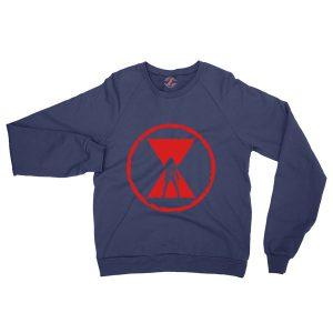 Black Widow Emblem Best Graphic Navy Blue Sweatshirt