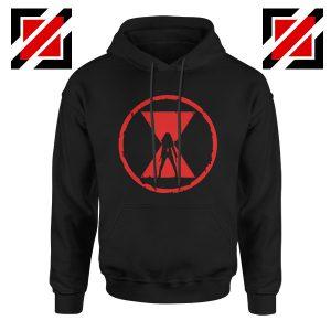 Black Widow Emblem Graphic Black Hoodie