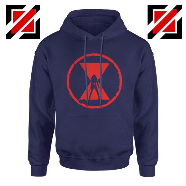 Black Widow Emblem Graphic Navy Blue Hoodie