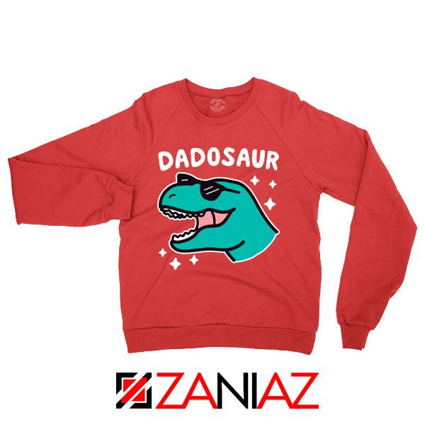 Buy Dad Dinosaur Gift Graphic Red Sweatshirt