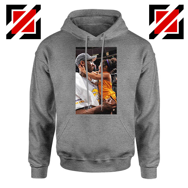 Buy Kobe and Gigi NBA Champ Family Grey Hoodie