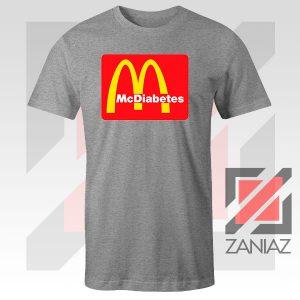 Buy Mcdiabetes Mcdonald Parody Graphic Sport Grey Tee