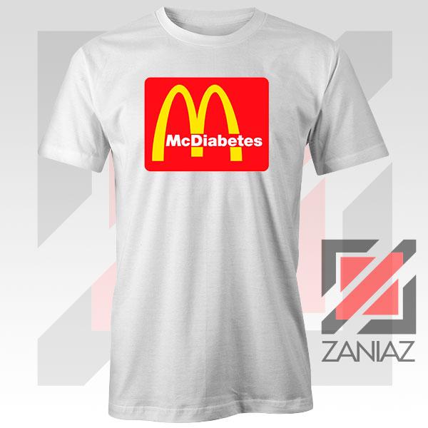 Buy Mcdiabetes Mcdonald Parody Graphic White Tee