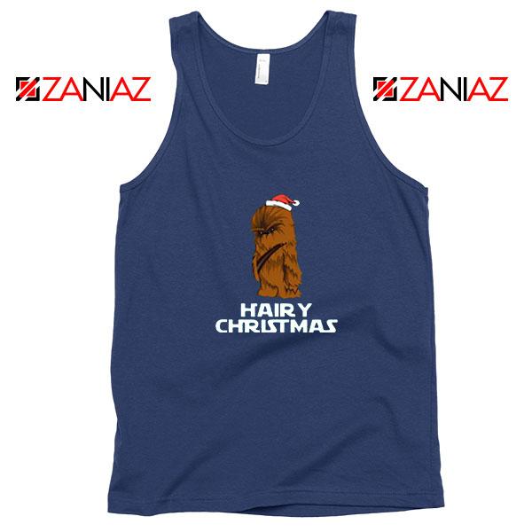 Chewbacca Hairy Christmas Navy Blue Tank Top