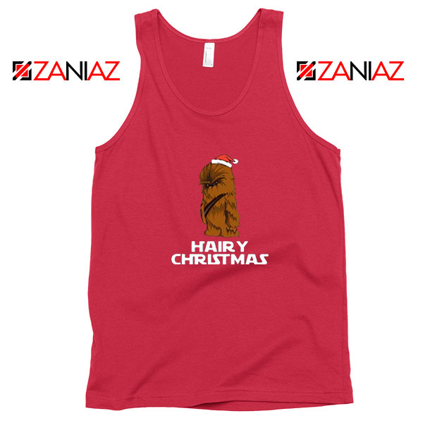 Chewbacca Hairy Christmas Red Tank Top