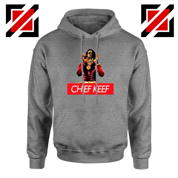 Chief Keef American Rapper Grey Hoodie