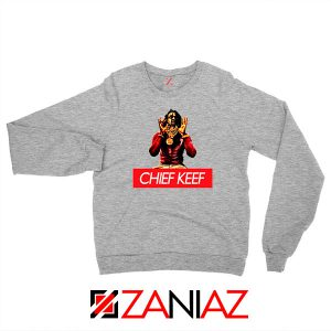 Chief Keef Gloryboys Rapper Grey Sweatshirt