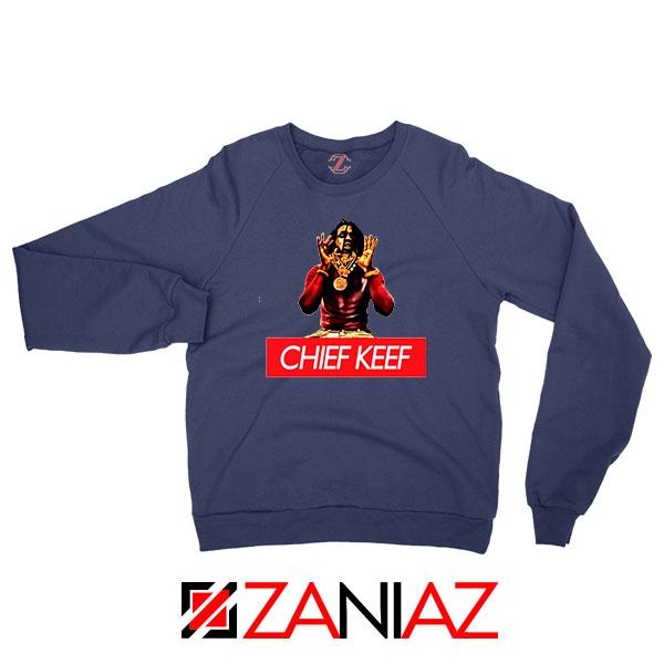 Chief Keef Gloryboys Rapper Navy Blue Sweatshirt