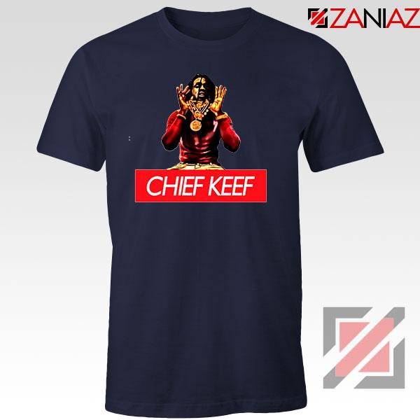 Chief Keef Gloryboys USA Rapper Navy Blue Tshirt