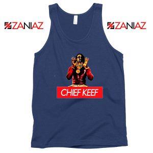 Chief Keef Vintage Rap Music Navy Blue Tank Top