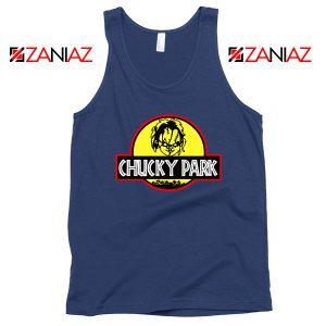 Chucky Jurassic World Halloween Navy Blue Tank Top