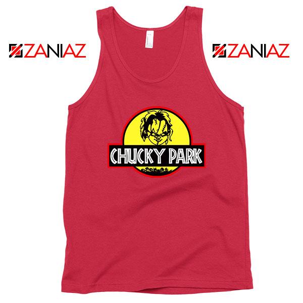 Chucky Jurassic World Halloween Red Tank Top