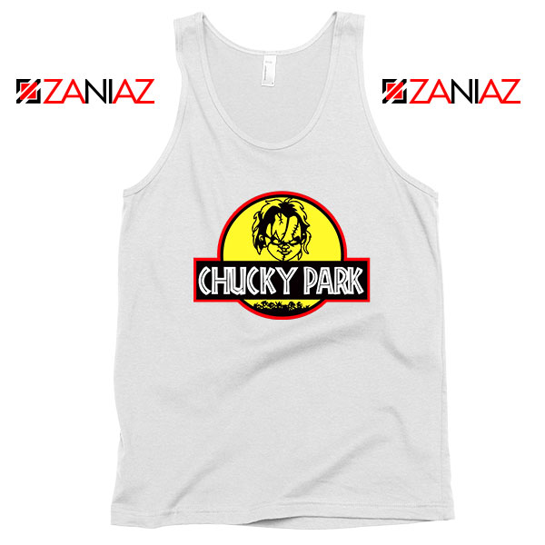 Chucky Jurassic World Halloween White Tank Top