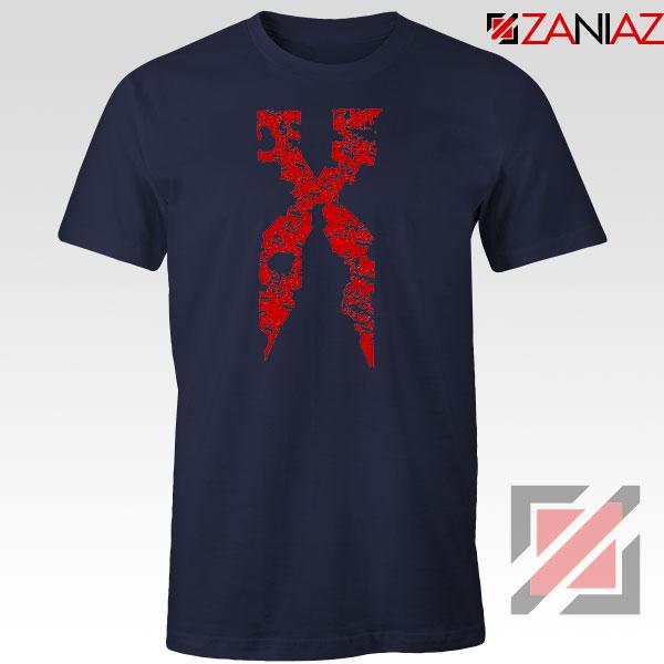 DMX Signature Design Rapper Navy Blue Tshirt