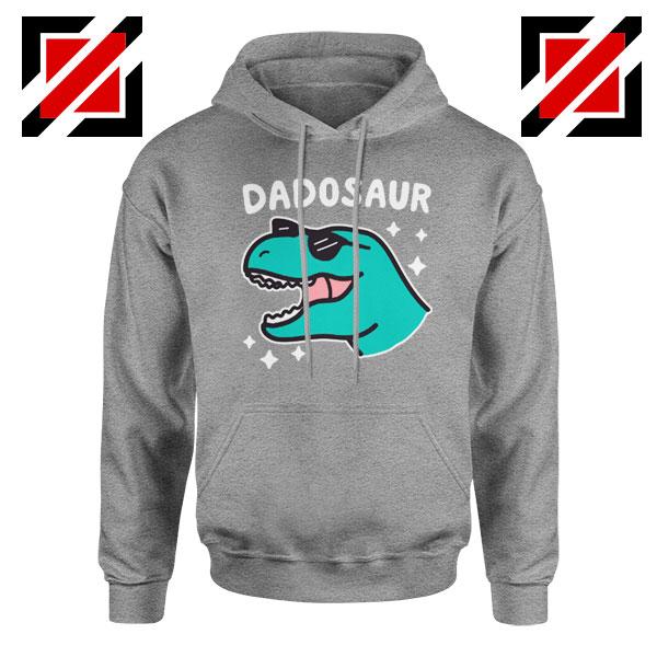 Dad Dinosaur Best Design Grey Hoodie