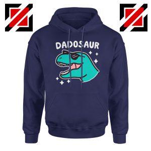 Dad Dinosaur Best Design Navy Blue Hoodie