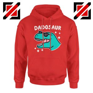 Dad Dinosaur Best Design Red Hoodie