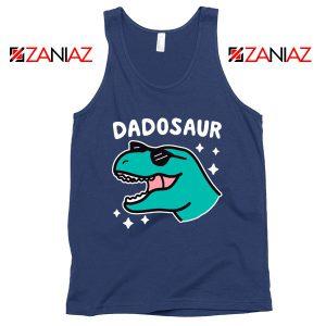 Dad Dinosaur Best Graphic Navy Blue Tank Top