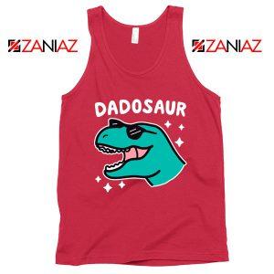 Dad Dinosaur Best Graphic Red Tank Top