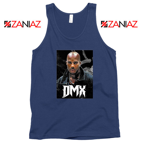 Dark Man X Gangsta Rap Music Navy Blue Tank Top
