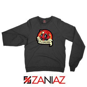 Deadpool Unicorn Superhero Black Sweatshirt