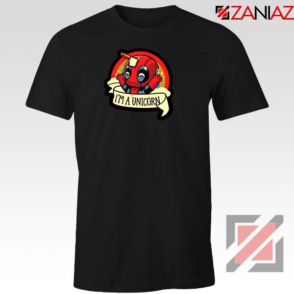 Deadpool Unicorn Superhero Black Tshirt