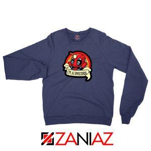Deadpool Unicorn Superhero Navy Blue Sweatshirt