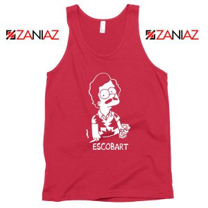 Escobart Simpson Best Graphic Red Tank Top