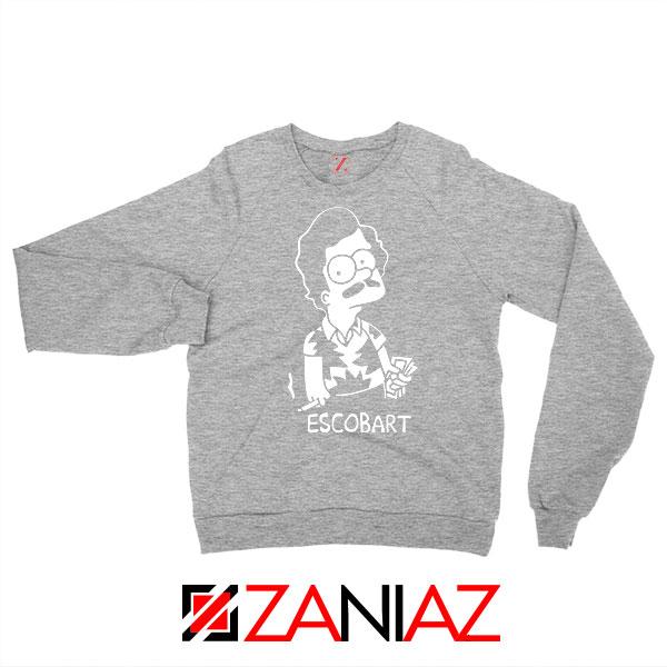 Escobart The Simpson Graphic Grey Sweatshirt