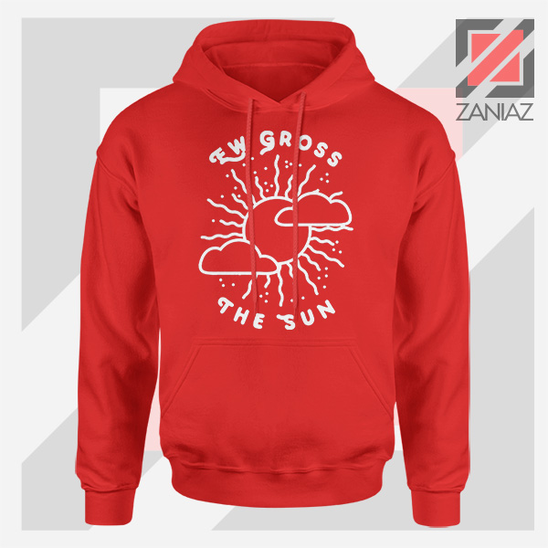 Ew Gross The Sun Racer Back Graphic Red Hoodie