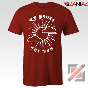 Ew Gross The Sun Racer Back Graphic Red Tee
