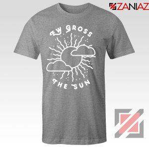 Ew Gross The Sun Racer Back Graphic Sport Grey Tee