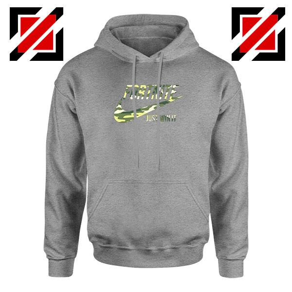 Fortnite Battle Just Win It Sport Grey Hoodie