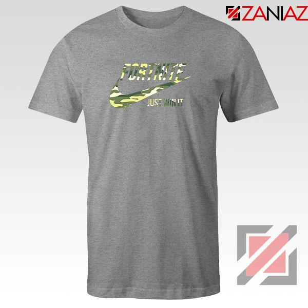 Fortnite Battle Just Win It Sport Grey Tshirt