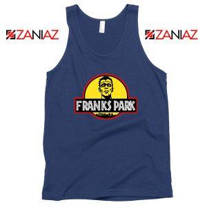 Franks Halloween Jurassic World Navy Blue Tank Top