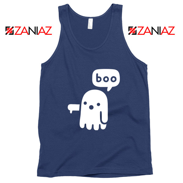 Ghost Of Disapproval Best Graphic Navy Blue Tank Top
