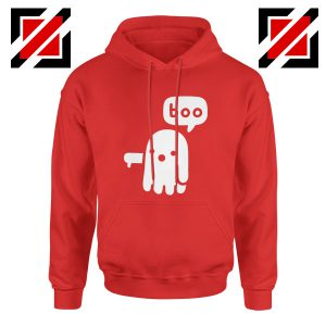 Ghost Of Disapproval Cheap Graphic Red Hoodie