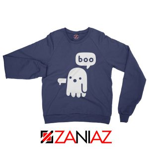Ghost Of Disapproval Graphic Navy Blue Sweatshirt