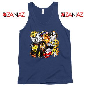 Glo Gang Group Rap Chief Keef Navy Blue Tank Top