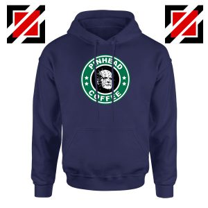 Hellraiser Horror Pinhead Coffee Navy Blue Hoodie