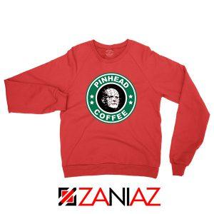 Hellraiser Horror Pinhead Coffee Red Sweatshirt