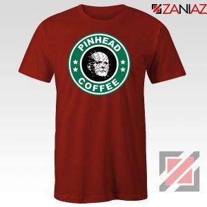 Hellraiser Horror Pinhead Coffee Red Tshirt