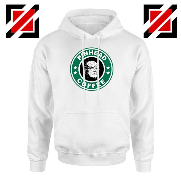 Hellraiser Horror Pinhead Coffee White Hoodie