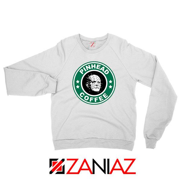 Hellraiser Horror Pinhead Coffee White Sweatshirt
