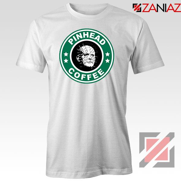 Hellraiser Horror Pinhead Coffee White Tshirt